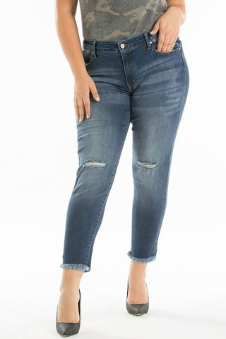 Curvy KanCan Light Wash Ankle Jean