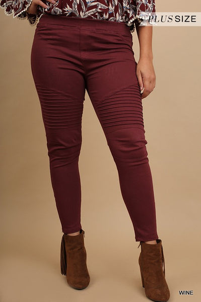 Washed Moto Jeggings