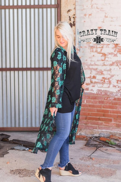 Crazy Train Laynee Lace Duster