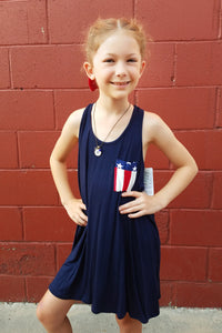 Kid's American Flag Tank Dress