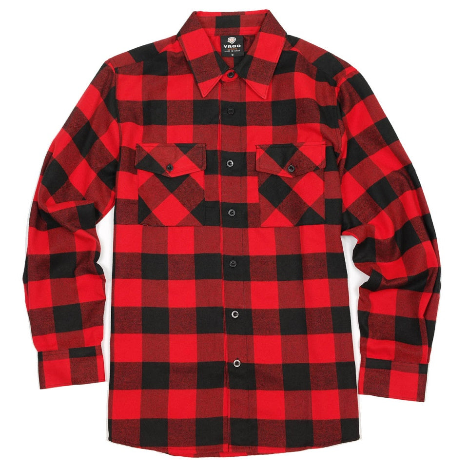 Black & Red Buffalo Plaid Flannel