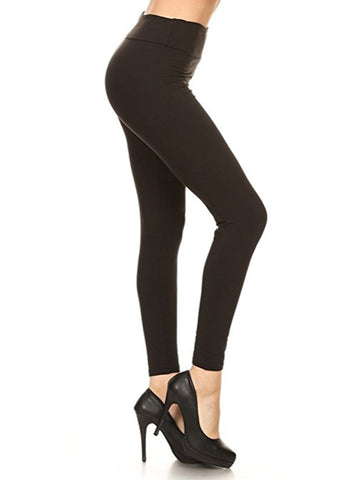 One Size Solid Leggings
