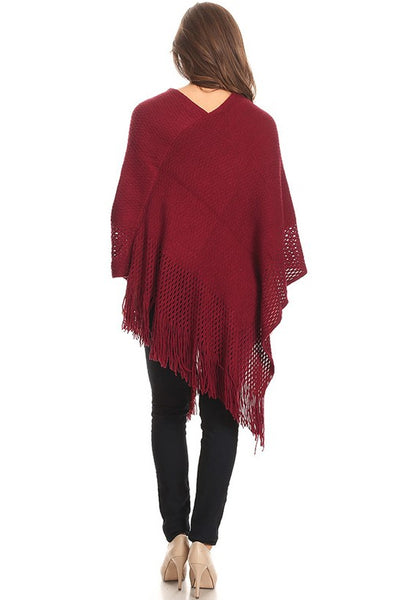 Knit Pullover Poncho