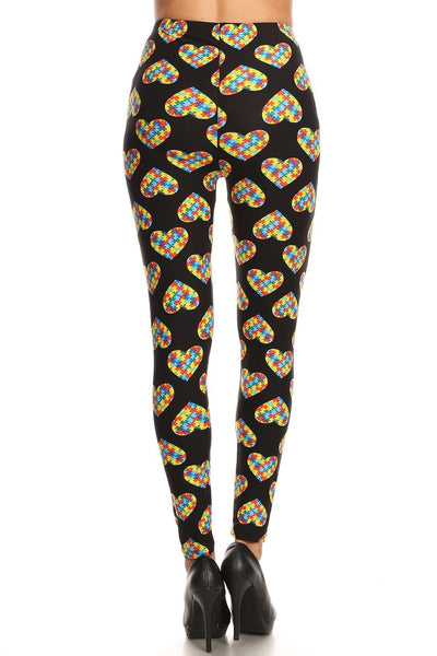 One Size Autism Awareness Leggings