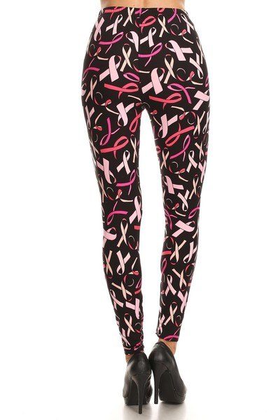 Plus Size Breast Cancer Awareness Leggings