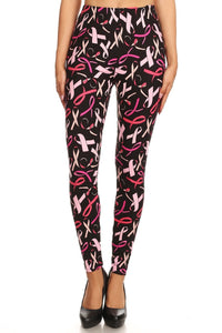 One Size Breast Cancer Awareness Leggings