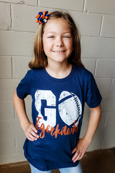 Kids Go Tigerhawks Football Tee