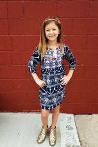 Kid's Tribal Print Tunic Dress