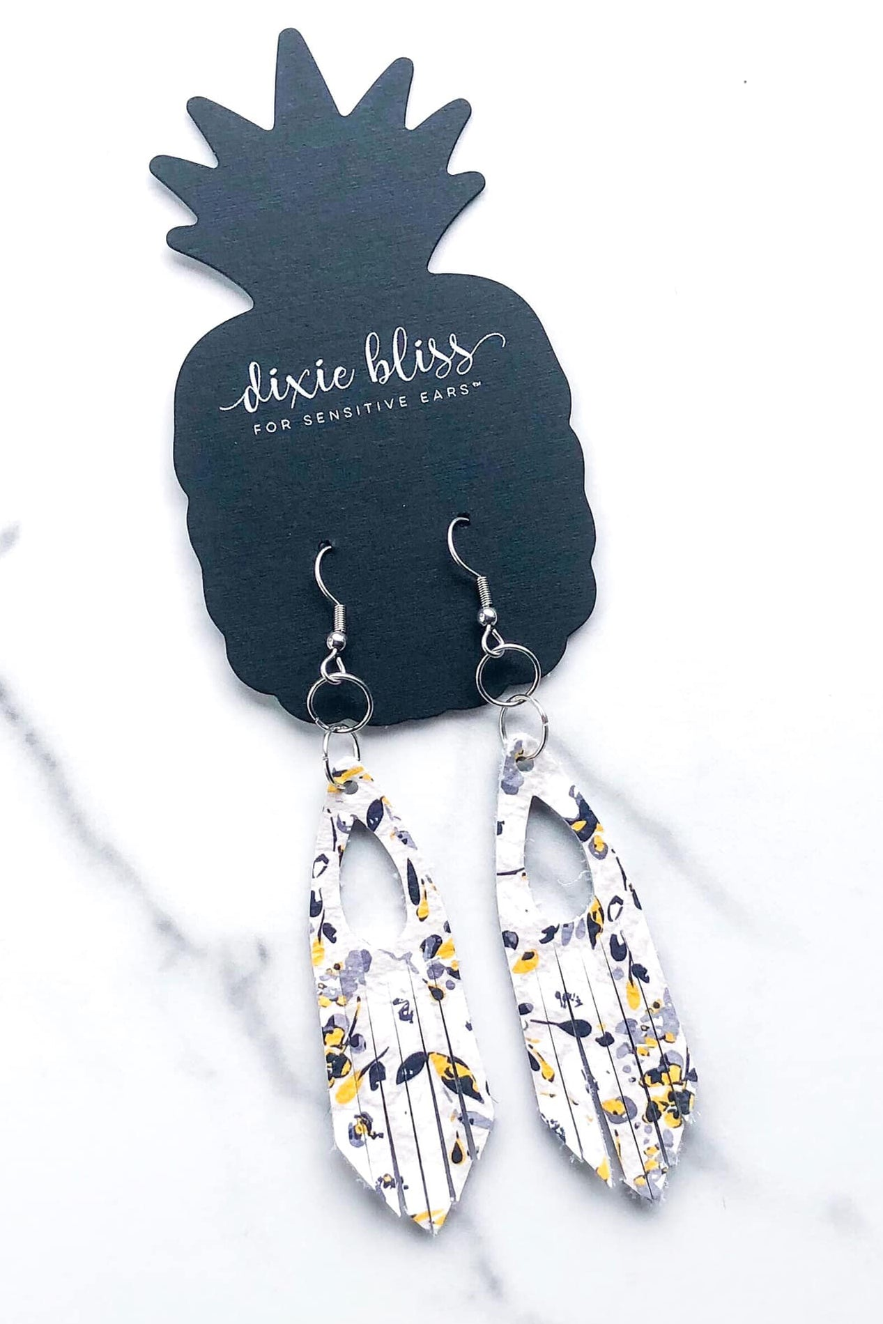 Alexandria Ecru Floral Earrings