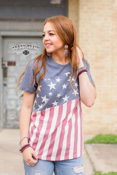 Crazy Train Betsy Ross Slant Top