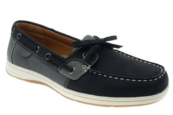 Black & Gray Boat Shoe