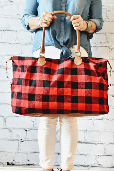 Buffalo Check Weekender Bag