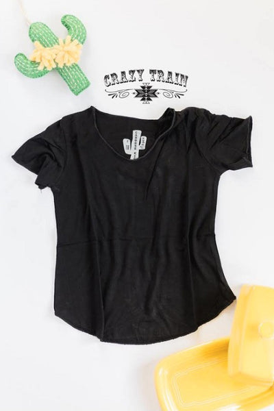 Crazy Train Caboose Kids Black Butter Basic Top