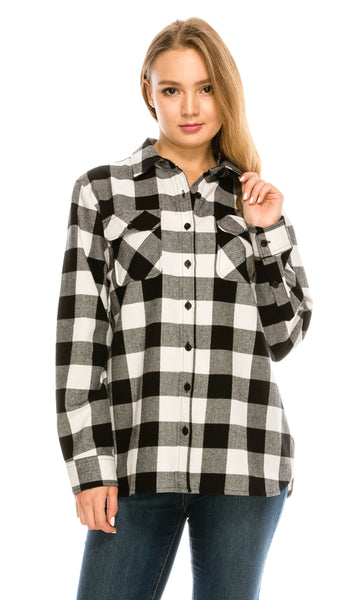Checkered Outdoor Flannel Shirt