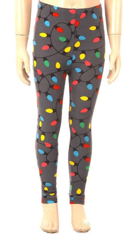 Colorful Christmas Lights Leggings Kids