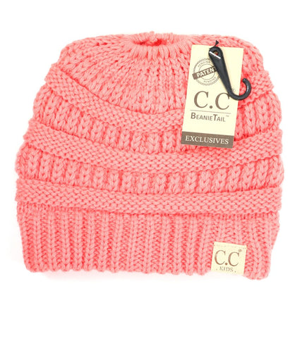 Kids Solid Classic CC Beanie Tail