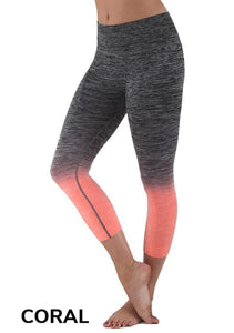 Two Tone Ombre Workout Capri