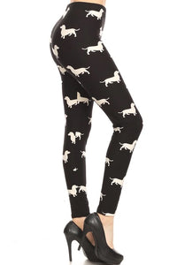 One Size Dachshund Wiener Dog Leggings