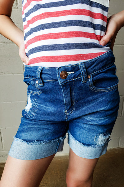 Kids Distressed Shorts