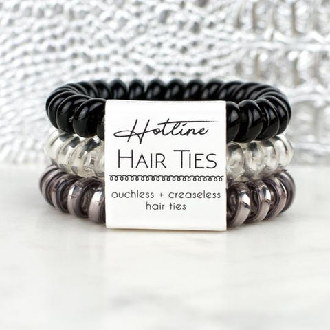 Hotline Hair Ties Black Diamond Set