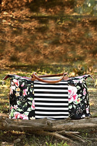 Floral & Stripes Weekender Bag