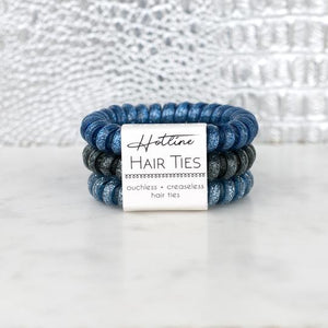 Hotline Hair Ties Stormy Nights Glitter Set