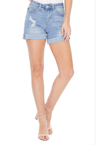 Judy Blue Boyfriend Cuffed Shorts