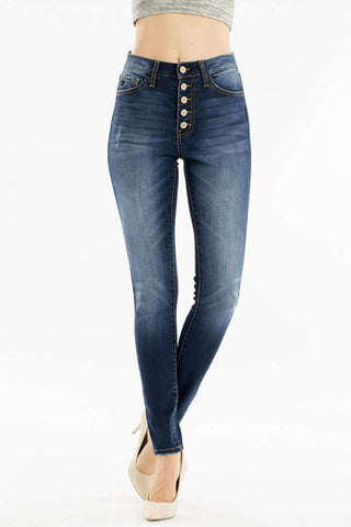 KanCan Button Fly High Rise Skinny Jean