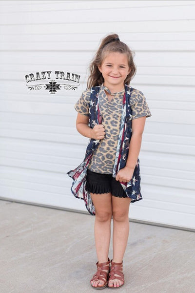Crazy Train Caboose Kids Liberty Lace Duster