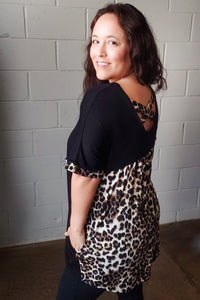 Animal Print Criss Cross Back Tunic