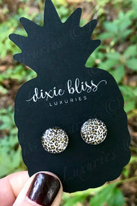 Leopard Glass Earrings