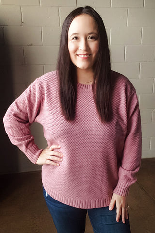 Light Rose Round Neck Sweater