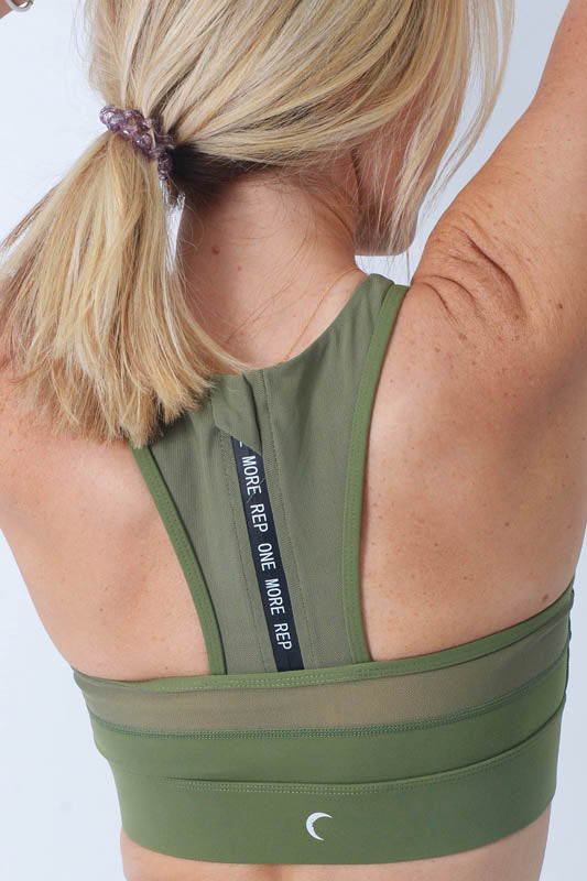 Zyia Olive Green All-Star Bra