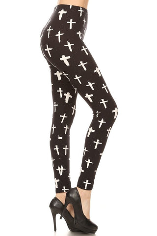 One Size Cross Leggings