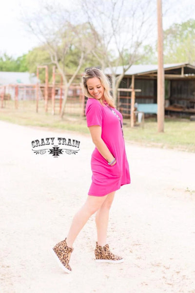 Crazy Train Pretty in Pink Pocket Dress
