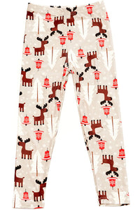 Playful Reindeer Leggings Kids