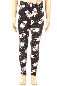 Christmas Polar Bear Leggings Kids