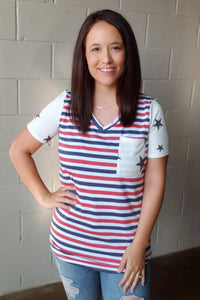 Patriotic Stripe & Star Top