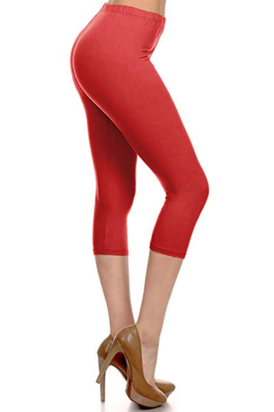 Extra Plus Solid Capri Leggings