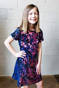 Kid's Reversible Sequin Shift Dress