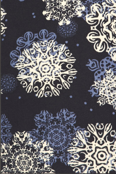 One Size Falling Snowflakes Leggings