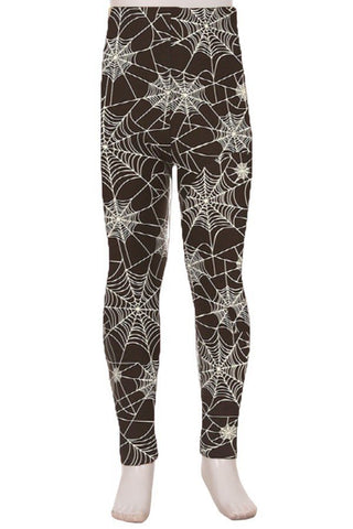 Halloween Spider Web Leggings Kids