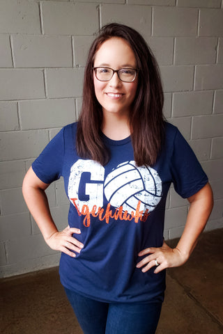 Go Tigerhawks Volleyball Tee