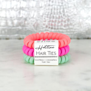 Hotline Hair Ties Tropical Matte Set