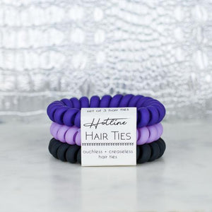 Hotline Hair Ties Ultra Violet Matte Set