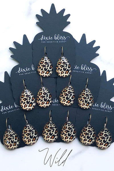 Wild Leverback Earrings