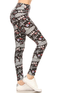 One Size USA Graphic Leggings