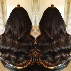 "24"" Russian Double Drawn Brown Hair Extensions"