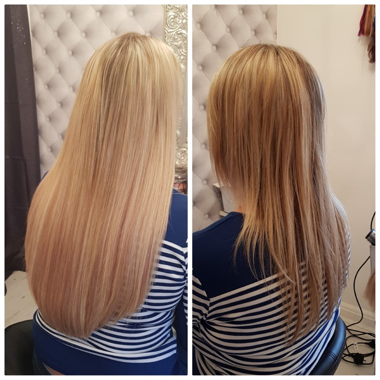 "18"" Double drawn Russian Micro ring Hair Extensions - Half Head"