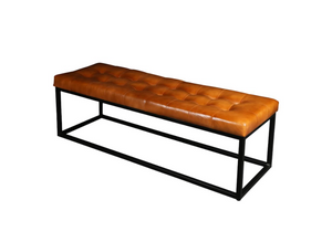 Daryl leather bench